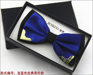 New Style Fashion Boutique Metal Head Bow Ties For Groom Men Women Butterfly Solid Bowtie Classic Gravata Cravat Freeshipping - 64 Corp