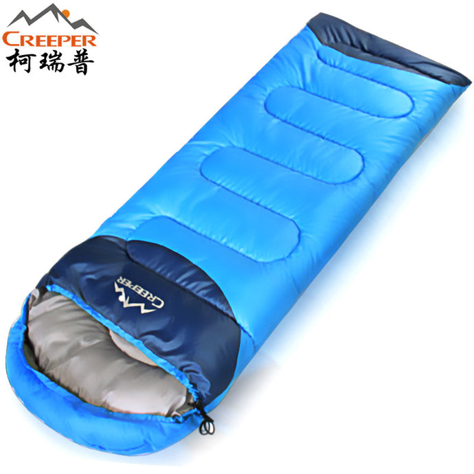 Creeper Thickening Winter Warm Outdoor Sleeping Bag Splicing Envelope Waterproof Traveling Hiking Camping Single Sleeping Bags - 64 Corp