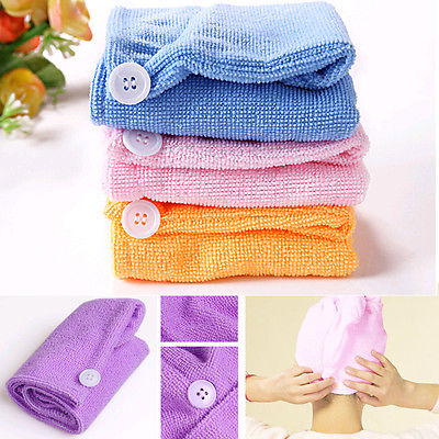 Microfiber Hair Wrap Towel Drying Bath Spa Head Cap Turban Wrap Twist Dry Shower - 64 Corp