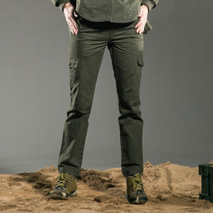 Free Army Brand High Quality Plus Size Casual Women Pants Skinny Full Length Army Green Lady Winter Trousers Outdoors GK-9379A - 64 Corp