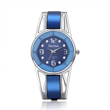 2017 Hot Sell Xinhua Bracelet Watch Women Blue Luxury Brand Stainless Steel Dial Quartz Wristwatches Ladies Fashion Watches - 64 Corp