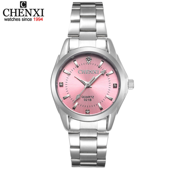 5 Fashion colors CHENXI CX021B Brand relogio Luxury Women's Casual watches waterproof watch women fashion Dress Rhinestone watch - 64 Corp