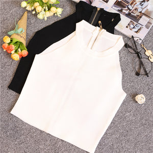 Summer Women Slim Knitting Halter Off-shoulder Tank Crop Tops - 64 Corp