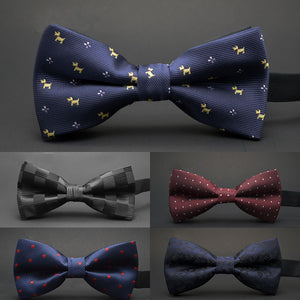 GUSLESON NEW Dot Bow Tie Wedding Bowtie Noeud Papillon Boys & Girls Polyester Silk Pajaritas Cravat Bowties Female Male Neckwear - 64 Corp