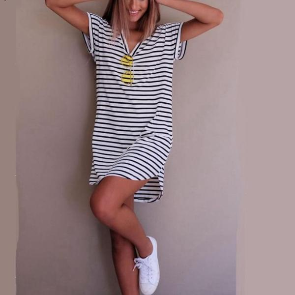 Casual stripped dress - 64 Corp