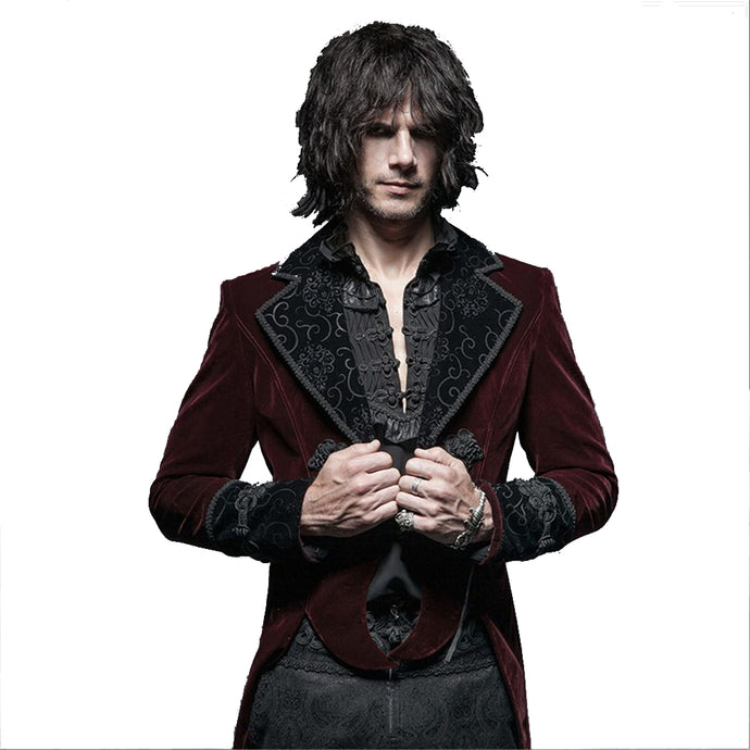 Gothic Gentleman Classical Velour Long Jacket - 64 Corp