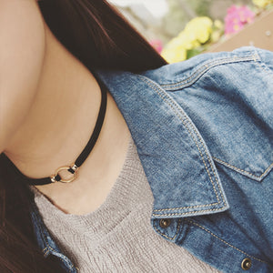 Free shipping! Fashion black collar neck chain sexy round clavicle wild temperament choker necklace Cowboy accessories jewlery - 64 Corp