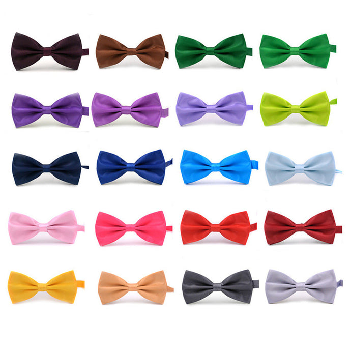 2017 New Fashion Boutique Mens Bow Ties for Men Groom Wedding Party Women Butterfly Bow Tie Solid Bowtie Men Gravata Cravate - 64 Corp