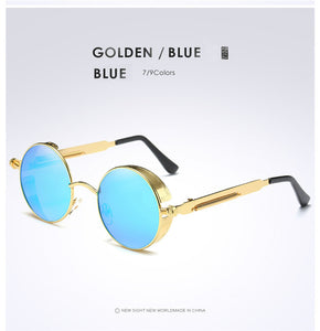 Gold Metal Polarized Sunglasses Gothic Steampunk Sunglasses Mens Womens Fashion Retro Vintage Shield Eyewear Shades 372 Red - 64 Corp