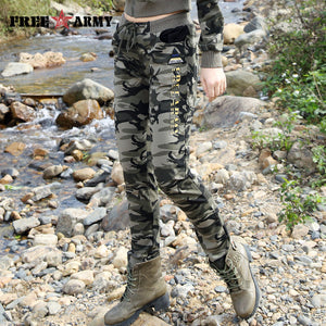 2017 New Spring Army Camouflage Pants Women Slim Pants Ladies Military Trousers Print Elastic Waist Fashion Casual Pants GK-9612 - 64 Corp