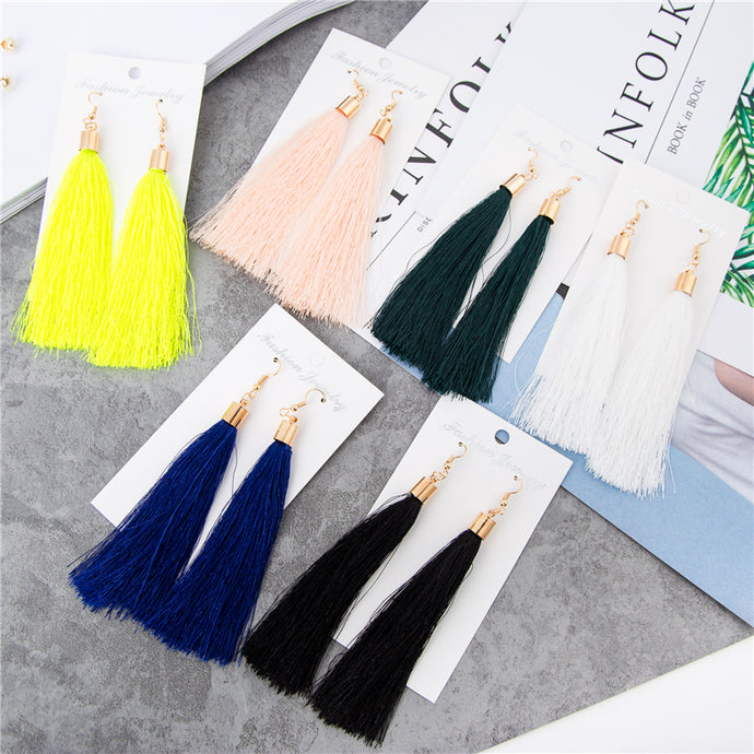 Hot Fashion Vintage Earrings For Women Jewelry Earrings Ancient Long Tassel Drop Earrings Dangle 6 Color Gift - 64 Corp