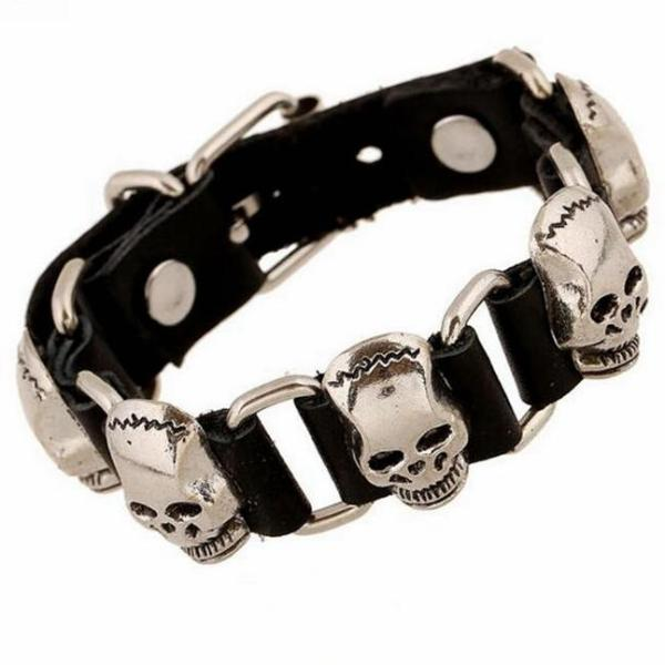 Rocker Leather Bracelets & Bangle - 64 Corp