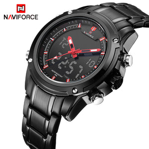 NAVIFORCE Luxury Brand Men Sports Army Military Watches Men's Quartz Analog LED Clock Male Waterproof Watch relogio masculino - 64 Corp