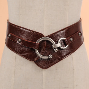 Rocker Fashion Belt Gold Metal Rivet - 64 Corp