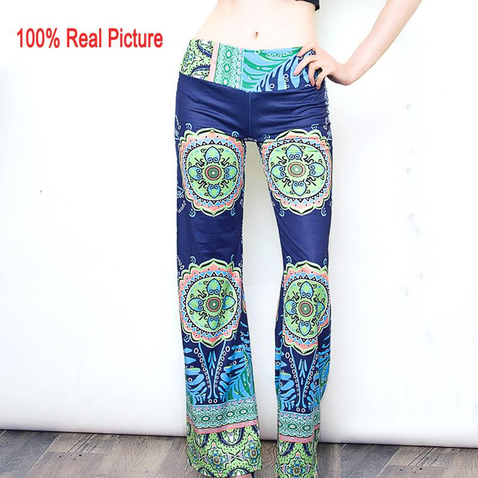 2015 summer women pants Casual High Waist Flare Wide Leg Long Pants Palazzo Trousers  floral classic exuma pant preppy - 64 Corp
