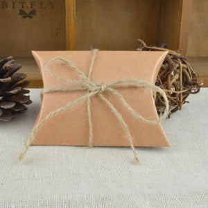 vintage Kraft paper candy Candy Box Gift Bag wedding gift baby shower favors birthday party  Christmas Supplies white - 64 Corp