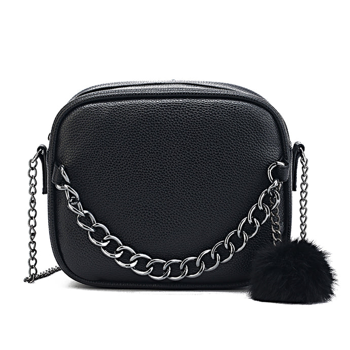 Crossbody Bag with Plush Ball Toy Bolsa - 64 Corp