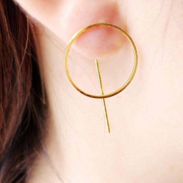 Big Circle Earring Minimalism Fashion Statement Jewelry - 64 Corp