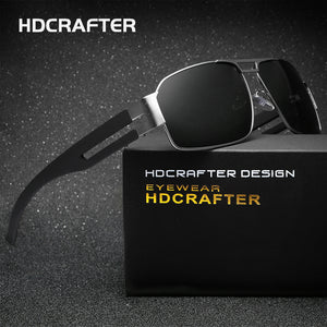 HDCRAFTER Brand Unisex Retro Aluminum Sunglasses Polarized Lens Vintage Eyewear Accessories Driving Sun Glasses For Men/Women - 64 Corp