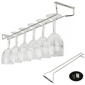 27cm Wine Glass Rack Hanger Holder Stemware Chrome Plated Bar Pub Holder