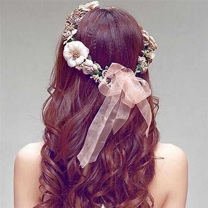 New Fashion Women Boho Flower Floral Hairband Headband Crown Party Bride Wedding Beach Head Accessories - 64 Corp