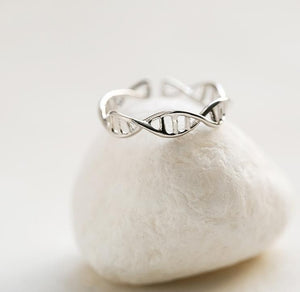 SMJEL New Biology DNA Ring for Women Minimalist Double Helix Anel Ring Men Chemistry Molecule Rings Gifts SYJZ080 - 64 Corp