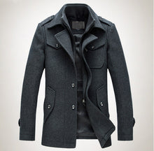 new arrival 2016 mens autumn and winter high quality basical wool blends jackets and coats single button  pea coat