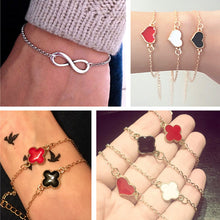 Minimalist Fashion Men Bijoux Love Clover Heart Lucky 8 Chain Bracelet for Women Jewelry Girl Bangle Gift Crystal Charm pulseras - 64 Corp