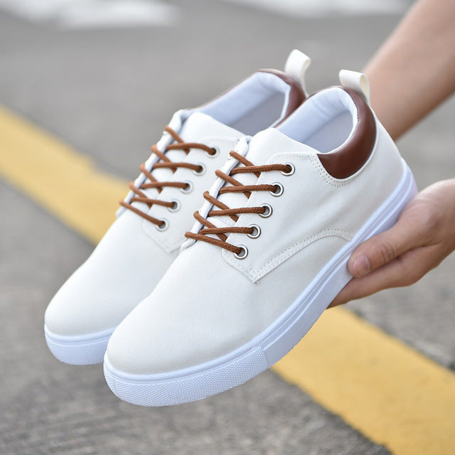 8b7c47e9318 ... REETENE New Arrival Spring Summer Comfortable Casual Shoes Mens Canvas  Shoes For Men Lace-Up ...