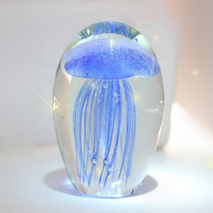Luminous Jellyfish Glassware Crystal ball Novelty households Home Decorative items christmas gift  collectible paperweight
