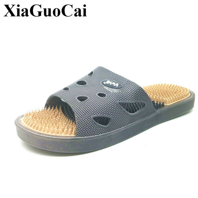 Men's Slippers Indoor Home Massage Slippers Couples Bathroom Non-slip Slippers Beach Slippers Flats Casual Shoes H191 35 - 64 Corp