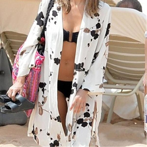 Kimono Casual Pareo Shirt Beach Cover Up Blouses - 64 Corp