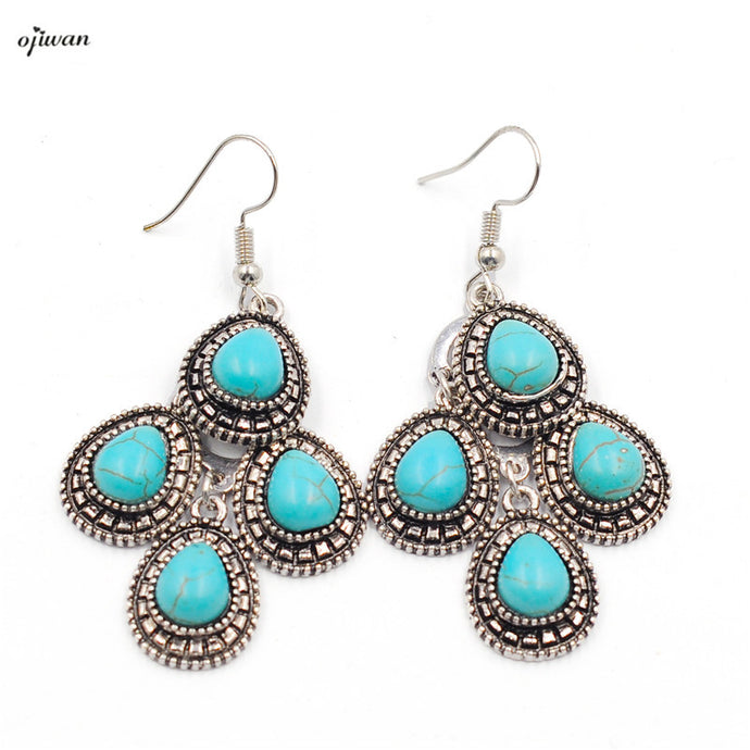 Tribal Teardrop Earrings Hippie Boho Chic aritos de mujer Southwestern Indian Native American Jewelry Navajo Online Shops India - 64 Corp