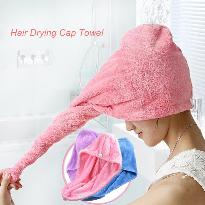 Quick Dry Microfiber Towel Hair Magic Drying Turban Wrap Hat Cap Spa Bathing Towel Bath Accessories - 64 Corp