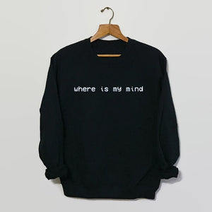 Where is my mind Pixies Sweatshirt Grunge 90s Grunge Grunge Tumblr sweatshirt Unisex Casual Tops high quality Jumper pullovers - 64 Corp