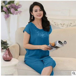 Short Sleeve Pajamas For Women - 64 Corp