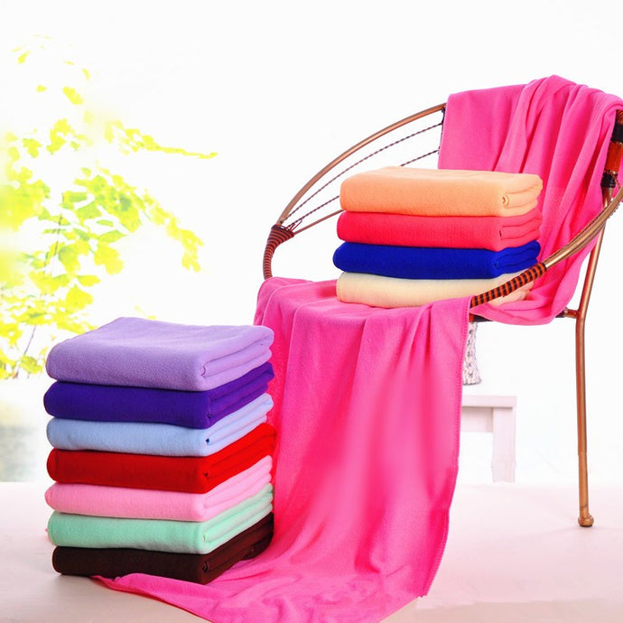 Hot Sell Large Size Absorbent Microfiber Fleece Bath Towel Shower Spa Simple 70*140cm - 64 Corp