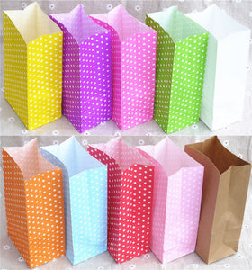 New paper bag Stand up Colorful Polka Dot  Bags 18x9x6cm Favor  Open Top Gift Packing paper Treat gift Bag wholesale - 64 Corp