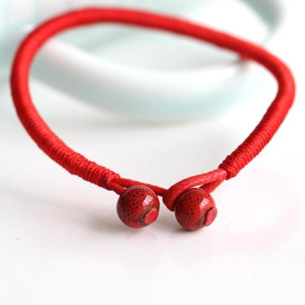 2Pcs/lot Women Lucky Bracelets Bead Red String Ceramic bracelets & bangles Men Handmade Accessories  Lovers Lucky Jewelry - 64 Corp