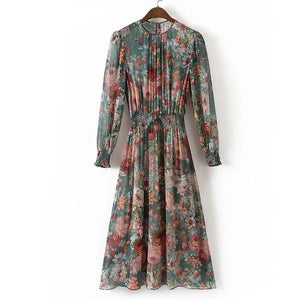 Autumn Women Vintage Printed Dress - 64 Corp