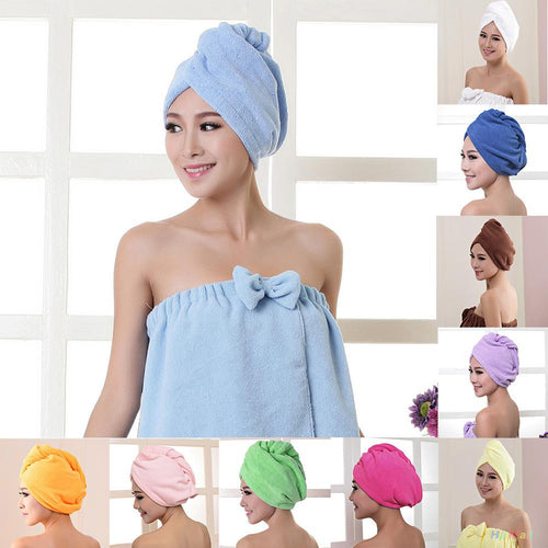 Quick Dry Microfiber Towel Hair Magic Soft Bathing Spa Turban Wrap Hat Cap - 64 Corp