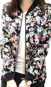 Plus Size  Fashion  Floral Jacket - 64 Corp