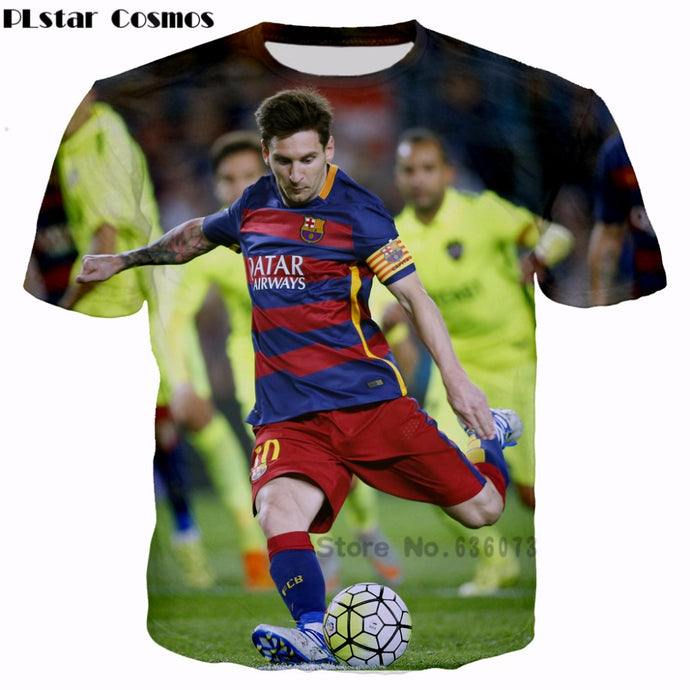 PLstar Cosmos 2017 summer new style T-shirts Athletes Lionel Messi 3d print Men/Women t shirt street wear camisa masculina - 64 Corp
