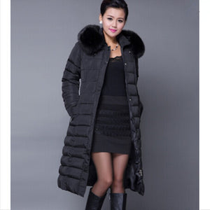 AILOOGE Winter Jacket Women Winter Coat Women Plus Size 5XL Long Parka Luxury Fur Cotton-Padded Down Coats Women Wadded Jackets