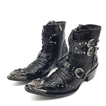 Genuine Leather Men Ankle Boots - 64 Corp