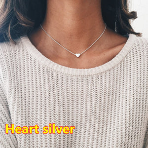 2017 New Women chocker gold Silver Chain star heart choker Necklace Jewelry collana Kolye Bijoux Collares Mujer Collier Femme - 64 Corp