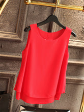 Solid Color Chiffon Blouse - 64 Corp