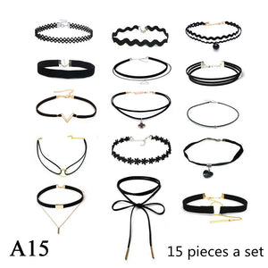 Velvet Strip Choker Collar Necklace - 64 Corp