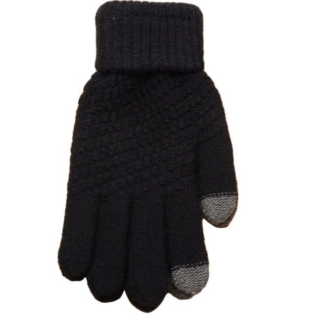 Smartphone Screen Gloves Women Girl Female Stretch Knitted Gloves Mittens Winter Thick Warm Accessories Woolen Guantes - 64 Corp