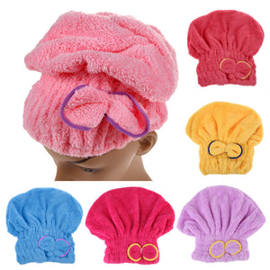 Ladies  Cap Bath Accessories Drying Towel Head Wrap Hat - 64 Corp